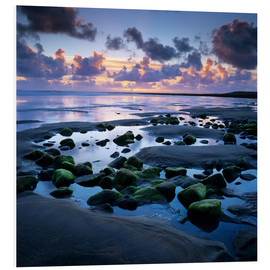 Cuadro de PVC  Sunset over rock pool, Strandhill, County Sligo, Connacht, Republic of Ireland, Europe - Stuart Black