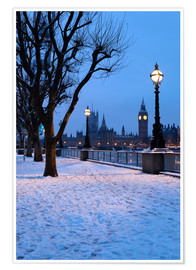 Póster  South Bank in winter - Stuart Black