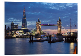 Cuadro de PVC  The Shard and Tower Bridge at night - Stuart Black