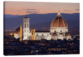 Lienzo  Duomo at night from Piazza Michelangelo, Florence, UNESCO World Heritage Site, Tuscany, Italy, Europ - Stuart Black