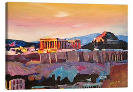 Lienzo  Athens Greece Acropolis At Sunset - M. Bleichner