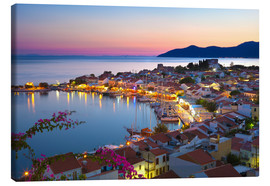 Lienzo  Harbour at dusk, Pythagorion, Samos, Aegean Islands, Greek Islands, Greece, Europe - Stuart Black