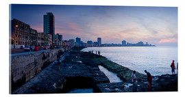 Cuadro de metacrilato  The Malecon, Havana, Cuba, West Indies, Central America