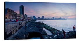Cuadro de aluminio  The Malecon, Havana, Cuba, West Indies, Central America