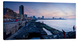 Lienzo  The Malecon, Havana, Cuba, West Indies, Central America