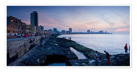 Póster  The Malecon, Havana, Cuba, West Indies, Central America
