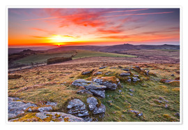Póster  Dawn in Dartmoor National Park - Julian Elliott