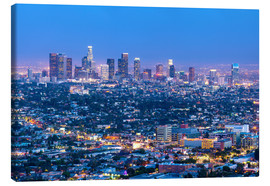 Lienzo  Cityscape of the Los Angeles skyline at dusk, Los Angeles, California, United States of America, Nor - Chris Hepburn