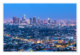 Póster  Cityscape of the Los Angeles skyline at dusk, Los Angeles, California, United States of America, Nor - Chris Hepburn