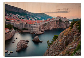 Cuadro de madera  Dubrovnik at sunrise - Matthew Williams-Ellis
