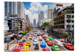 Cuadro de metacrilato  Colourful cars in Bangkok - Gavin Hellier