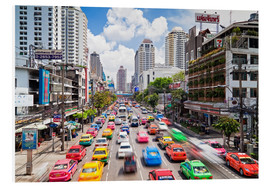 Cuadro de PVC  Colourful cars in Bangkok - Gavin Hellier