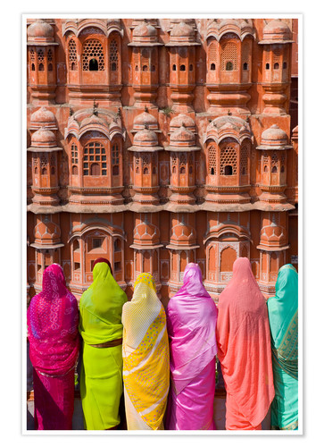 Póster Women in front of the Hawa Mahal