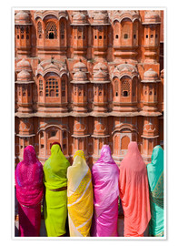 Póster  Women in front of the Hawa Mahal - Gavin Hellier