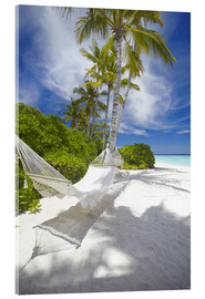 Cuadro de metacrilato  Hammock on tropical beach - Sakis Papadopoulos