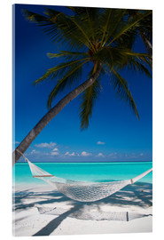 Cuadro de metacrilato  Hammock on a tropical beach - Sakis Papadopoulos