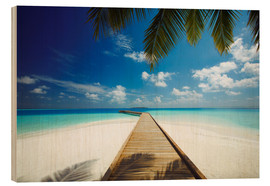 Cuadro de madera  Wooden jetty out to tropical sea - Sakis Papadopoulos