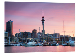 Cuadro de metacrilato  Viaduct Harbour & Sky Tower, Auckland - Ian Trower