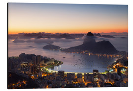 Cuadro de aluminio  Sugarloaf Mountain and Botafogo Bay - Ian Trower