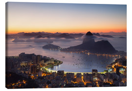 Lienzo  Sugarloaf Mountain and Botafogo Bay - Ian Trower