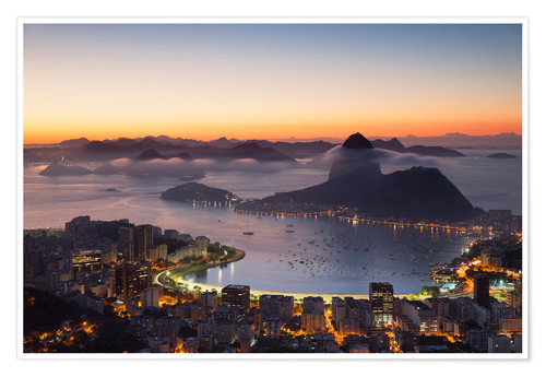 Póster Sugarloaf Mountain and Botafogo Bay