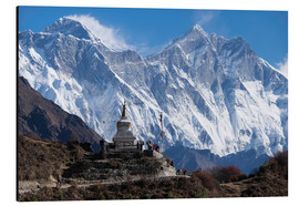 Aluminio-Dibond  Tenzing Norgye Stupa & Mount Everest - John Woodworth