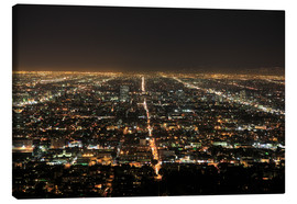 Lienzo  Los Angeles at night - Wendy Connett