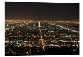 Cuadro de PVC  Los Angeles at night - Wendy Connett
