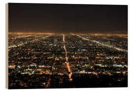 Cuadro de madera  Los Angeles at night - Wendy Connett