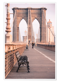 Póster  Bank on the Brooklyn Bridge - Amanda Hall