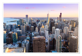 Póster Chicago skyline