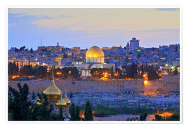 Póster  Jerusalem with Dome of the Rock - Neil Farrin