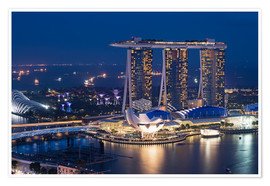 Póster  Marina Bay Sands Hotel - Gabrielle & Michel Therin-Weise