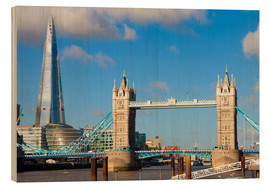 Cuadro de madera  The Shard & Tower Bridge - Miles Ertman