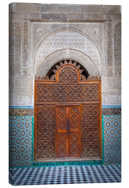 Lienzo  Door of the Medersa Bou Inania, Fes - Douglas Pearson