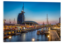 Cuadro de metacrilato  Sail 2015 Klimahaus - Havenwelten Bremerhaven at night - Rainer Ganske