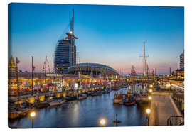 Lienzo  Sail 2015 Klimahaus - Havenwelten Bremerhaven at night - Rainer Ganske