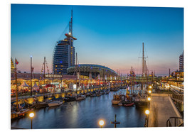 Cuadro de PVC  Sail 2015 Klimahaus - Havenwelten Bremerhaven at night - Rainer Ganske