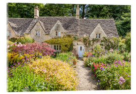 Cuadro de metacrilato  Romantic Cottage garden in the Cotswolds (England) - Christian Müringer
