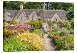 Lienzo  Romantic Cottage garden in the Cotswolds (England) - Christian Müringer