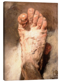 Lienzo  Foot of the artist - Adolph von Menzel