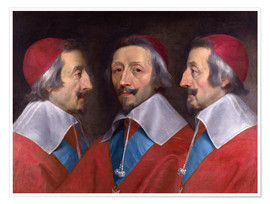Póster Triple Portrait of Cardinal de Richelieu