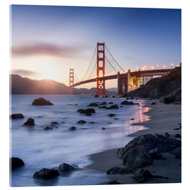 Cuadro de metacrilato  San Francisco Golden Gate Bridge - Jan Christopher Becke
