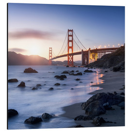 Aluminio-Dibond  San Francisco Golden Gate Bridge - Jan Christopher Becke