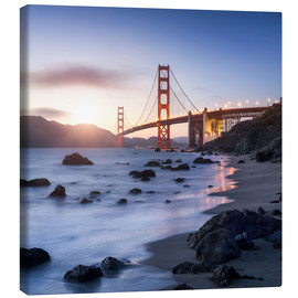 Lienzo  San Francisco Golden Gate Bridge - Jan Christopher Becke