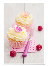 Póster Pink cupcakes with vanilla buttercream
