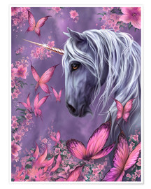 Póster  The Butterfly Unicorn - Susann H.