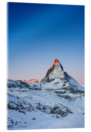 Cuadro de metacrilato  Matterhorn at sunrise from Riffelberg - Peter Wey