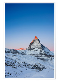 Póster  Matterhorn at sunrise from Riffelberg - Peter Wey