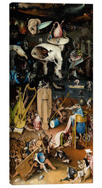 Lienzo  Garden of Earthly Delights, Hell - Hieronymus Bosch